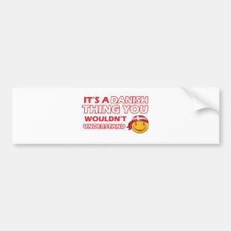 Danish Smiley Designs Bumper Sticker