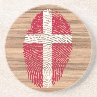 Danish touch fingerprint flag coaster