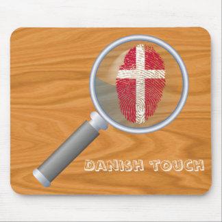 Danish touch fingerprint flag mouse mat