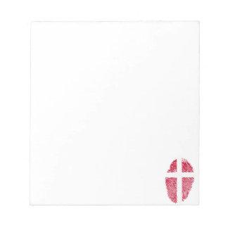 Danish touch fingerprint flag notepad