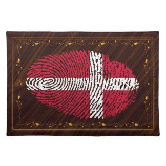 Danish touch fingerprint flag placemat