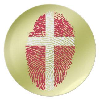 Danish touch fingerprint flag plate