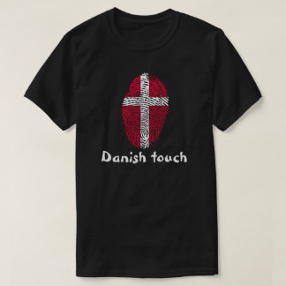 Danish touch fingerprint flag T-Shirt