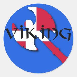 Danish viking axe classic round sticker