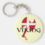 Danish Viking Denmark flag Axe Keychains