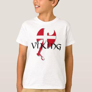 Danish Viking Denmark flag Axe T-Shirt