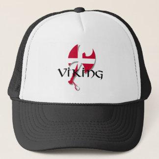 Danish Viking Denmark flag Axe Trucker Hat