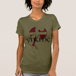 Danish Viking Denmark flag Axe T Shirt