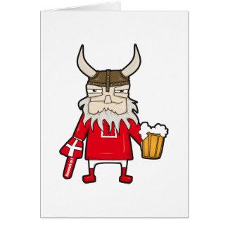 Danish Viking Fan Greeting Card