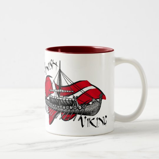 Danish Viking Ship cultural gifts of Denmark Two-Tone Coffee Mug
