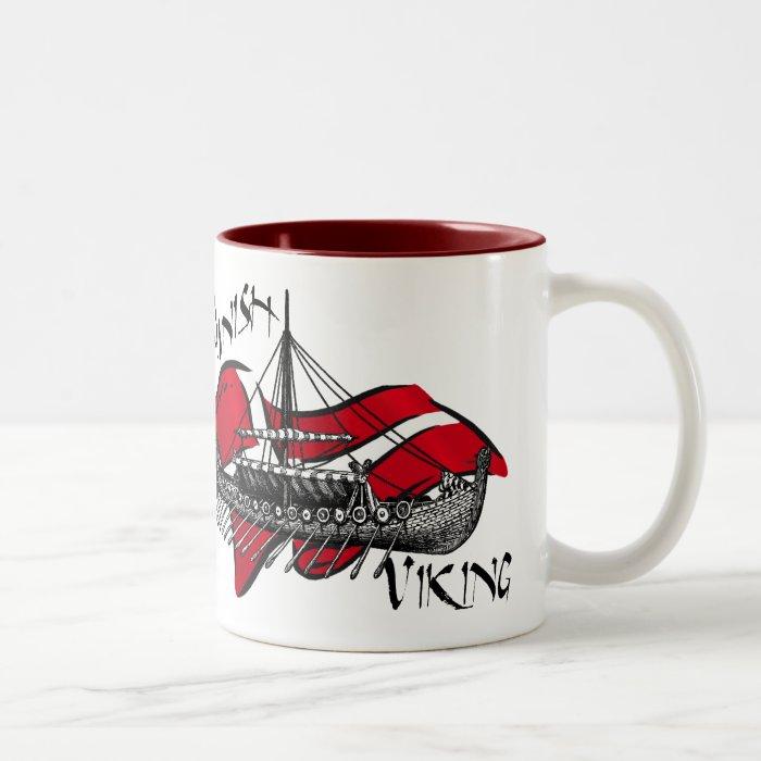 Danish Viking Ship cultural gifts of Denmark Two-Tone Coffee Mug