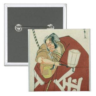 Danjuro in the role of Sakatano Kintoki 15 Cm Square Badge
