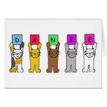 Danke, cats saying 'thanks' in German. Greeting Card