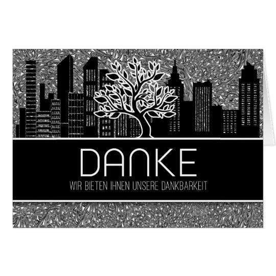 Danke German Business Thank You Blank Card