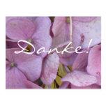 Danke! (Hortensia (pink)) - Postkarte Postcard