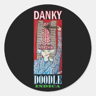 DANKY DOODLE INDICA CLASSIC ROUND STICKER