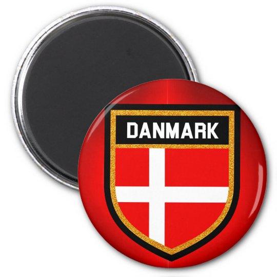 Danmark Flag 6 Cm Round Magnet