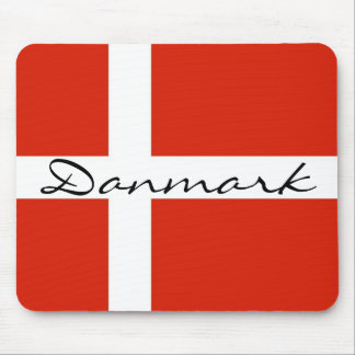 Danmark with Dannebrog Mouse Mat