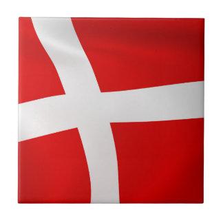 Dannebrog - The Danish Flag Small Square Tile