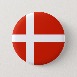 Dannebrog; The Official Flag of Denmark 6 Cm Round Badge