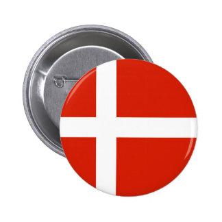 Dannebrog; The Official Flag of Denmark 6 Cm Round Badge