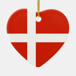 Dannebrog; The Official Flag of Denmark Christmas Ornament