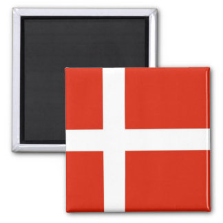 Dannebrog; The Official Flag of Denmark Square Magnet