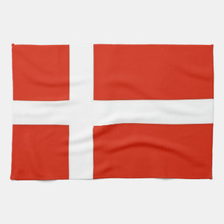 Dannebrog; The Official Flag of Denmark Tea Towel