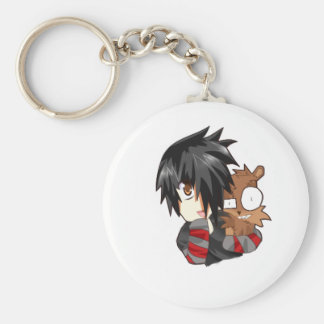 danny and teddy basic round button key ring