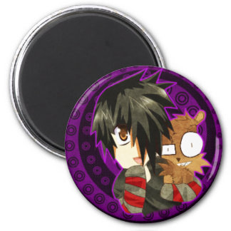 danny and teddy remake 6 cm round magnet