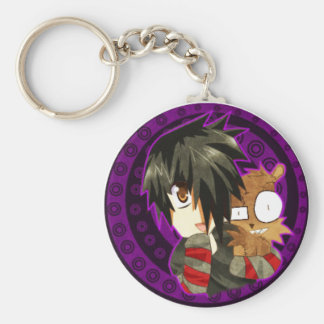 danny and teddy remake basic round button key ring