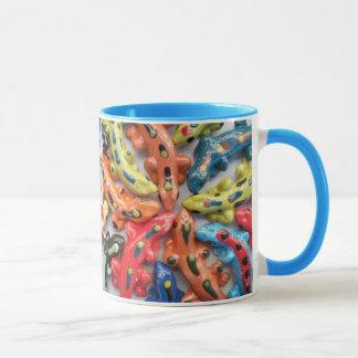 """Danny's Lizard Fiesta"" Ceramic Lizard Mug - Fun!"