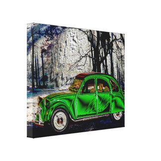 DANS LA FORÊT - digital Artwork Jean Louis Glineur Canvas Print