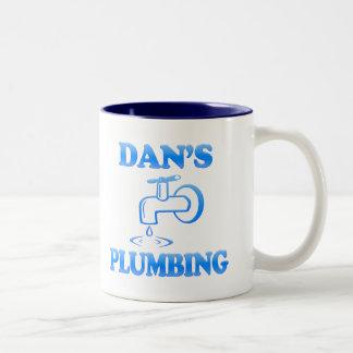 Dan's Plumbing Two-Tone Mug