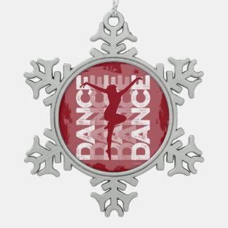 Danse et Lettres (Dance) Pewter Snowflake Decoration