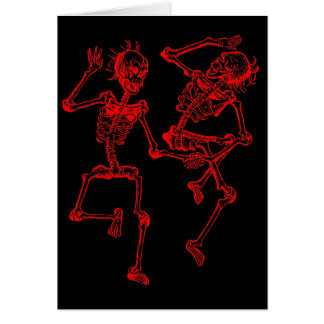 danse macabre 2 greeting card