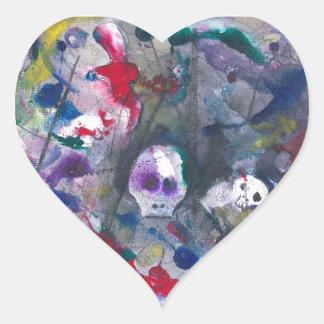 Danse Macabre Heart Sticker