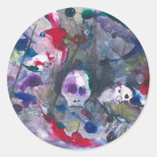 Danse Macabre Round Sticker