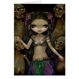 Danse Macabre Tribal Fusion Greeting Card