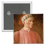Dante Alighieri (1265-1321) detail of his bust, fr Pinback Button