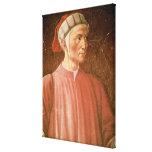 Dante Alighieri (1265-1321) detail of his bust, fr Canvas Print
