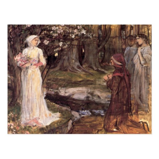 Dante and Beatrice fine art Postcard