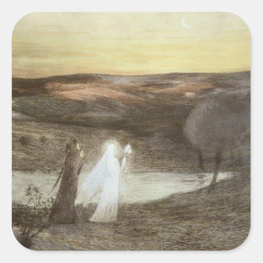 Dante and Beatrice, from 'L'Estampe Moderne', publ Sticker