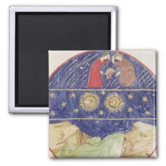 Dante and Beatrice Square Magnet