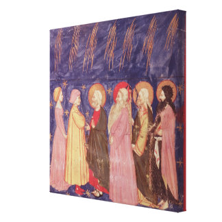 Dante and Beatrice with the Saints of Paradise Canvas Print