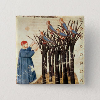 Dante and the Souls Transformed into Birds 15 Cm Square Badge