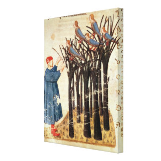 Dante and the Souls Transformed into Birds Canvas Print