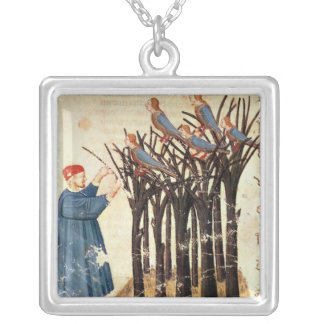 Dante and the Souls Transformed into Birds Silver Plated Necklace