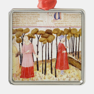 Dante and Virgil  at the Summit of Purgatory Christmas Ornament