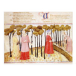 Dante and Virgil  at the Summit of Purgatory Postcard